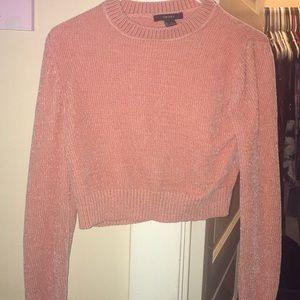 Peach crop top sweater